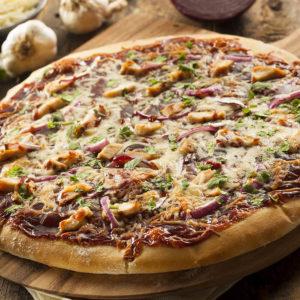 Chicken, Chopped Garlic, Creamy Garlic Sauce, Fresh Tomatoes, Mushrooms, Onions.