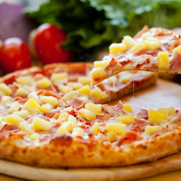 Canadian Bacon, Extra Cheese, Ham, Pineapple.